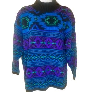 Vintage Croquet Club Multicolor Sweater